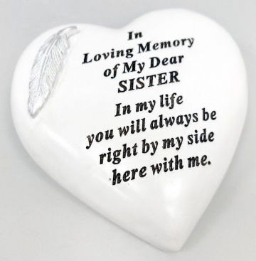 Large 15cm In Loving Memory of My DEAR SISTER Grave Stone  DF17973K